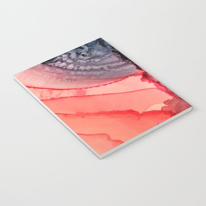 Undertow Meets Lava- Alcohol Ink Painting Notebook