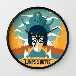 Lumps & Butts Wall Clock