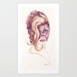 Scarlett Johnasson Vanity Fair & Lace Art Print