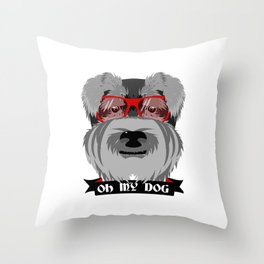 Oh My Dog Throw Pillow