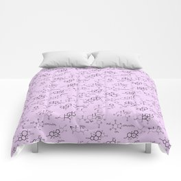 Molecules on Pink Comforters