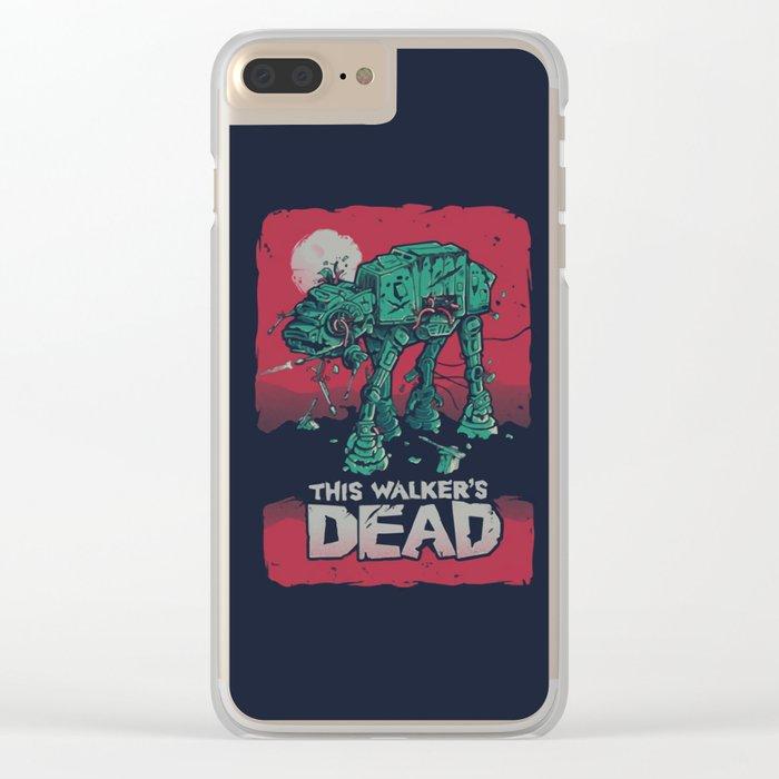 AT-AT Walker Dead - Walking Dead / StarWars Mashup Clear iPhone Case