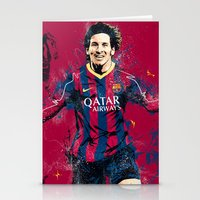 messi Stationery Cards featuring Lionel Messi by Simeon Elson