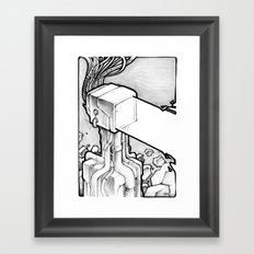 TV Blast sketch Framed Art Print