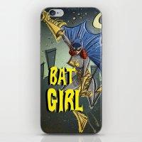 batgirl iPhone & iPod Skins featuring Batgirl by Joe Badon