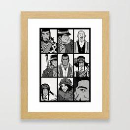 golden kamui print Framed Art Print