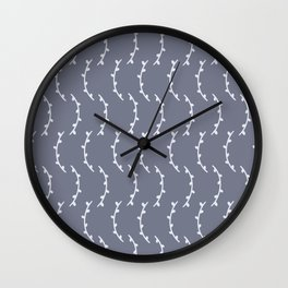 White Stems - English Meadow Collection Wall Clock