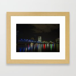 Jacksonville at Night Framed Art Print