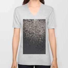Sepia Glitter #1 #shiny #decor #art #society6 Unisex V-Neck