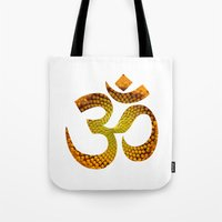 ohm Tote Bags featuring Ohm by MariquesArt