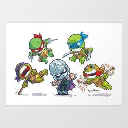 TMNT Cartoon Style Art Print