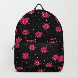 Virus-19 Black (Pattern) Backpack