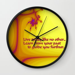 Lessons in Life Wall Clock