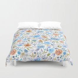 Watercolor Floral Garden Duvet Cover