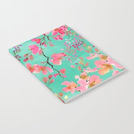 Elegant hand paint watercolor spring floral Notebook