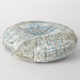 BLUE PATCHWORK MANDALA LA DENTELLE Floor Pillow