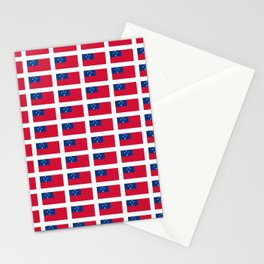 Flag of Samoa-Samoa,samoan,Tala,Savai'i,Upolu,Apia Stationery Cards
