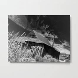 Bodie ghost town house Metal Print