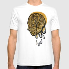 Drops fall MEDIUM White Mens Fitted Tee