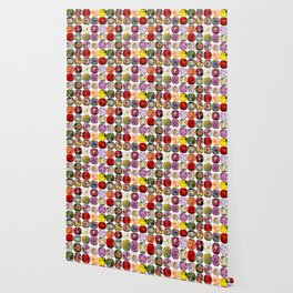 A Collage Of Bright Flowers Wallpaper