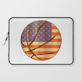 Basketball Stars And Stripes Laptop Sleeve