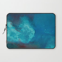 WaterColor Turqouise Blue Print Laptop Sleeve