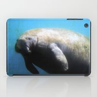 manatee iPad Cases featuring Manatee by ZenaZero