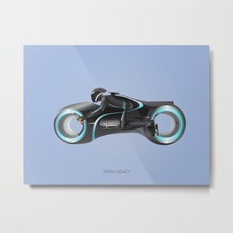 Tron Legacy Light Cycle Metal Print