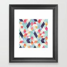 geometric cover Framed Art Print