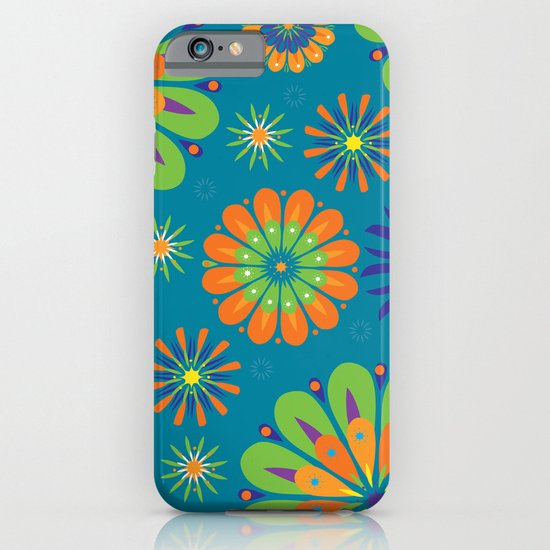 Psycho Flower Blue iPhone & iPod Case