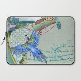Blue Headed Parrot Laptop Sleeve