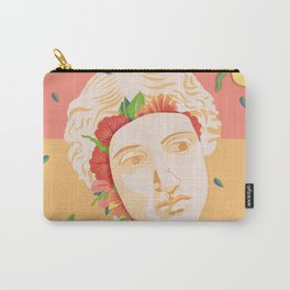 Abstract greek head with flower patterns Carry-All Pouch