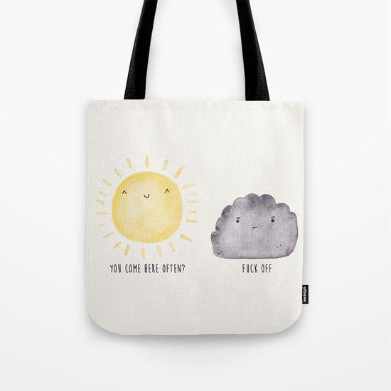 The Sun and the Rain-cloud (Watercolour) Tote Bag