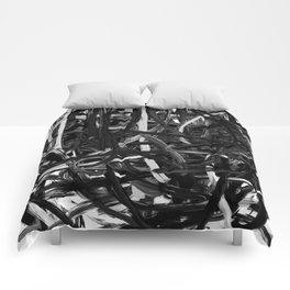 Black & White Abstract III Comforters