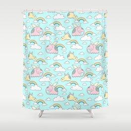 Elephants and hippos Shower Curtain