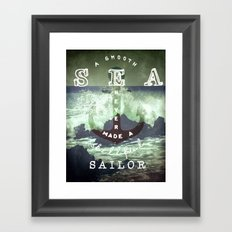 THE SAILOR QUOTE Framed Art Print