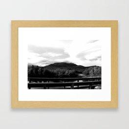 Katahdin Lookout Framed Art Print