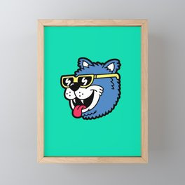 Cool Bear (portrait) Framed Mini Art Print
