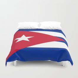 National flag of Cuba - Authentic HQ version Duvet Cover