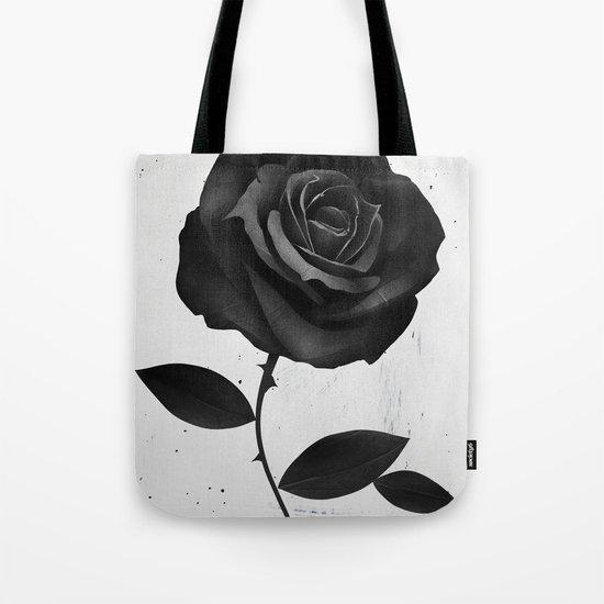 Fabric Rose Tote Bag