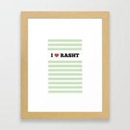 I Love Rasht Framed Art Print
