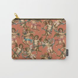 Stucco Cherubs in Terracotta Apricot Carry-All Pouch