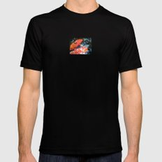 Koi Abstraction 001 Mens Fitted Tee MEDIUM Black