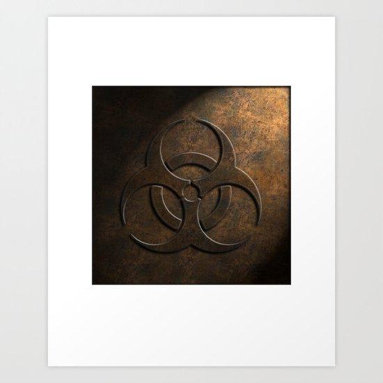 Biohazard Stone Texture Art Print