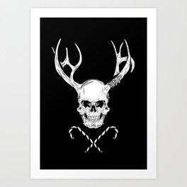 Creepy Xmas Art Print