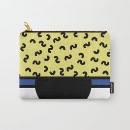Memphis 80's Design Black, Yellow, Blue Carry-All Pouch
