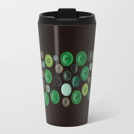 Green Buttons Scanograph Travel Mug