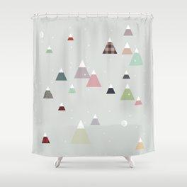 winter || in white Shower Curtain