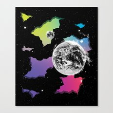 The Neon Spectrum and Cosmic Matter Canvas Print