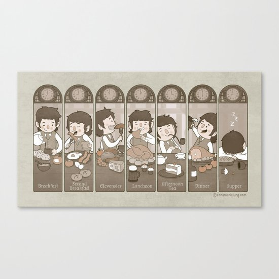 The Seven Daily Meals Canvas Print